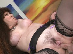 Stud bonks his wife's mom Alexandra Silk in the gazoo