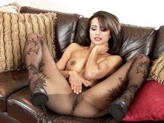 Hot Chelsea French loves teasing her juicy moist clit
