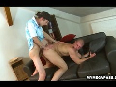 Well hung uncut stud copulates super tight ass bareback