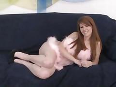 Nikki Rhodes has her shaggy hole slammed with cock