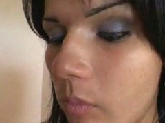 Cute Tranny and Two Fellows Enjoyment