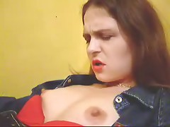 See now home-video of evil brunette hair hair with big bazookas and hard nipps getting plenty of incredible pleasure.