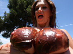 Sara Stone has the most outstanding set of biggest freakish natural boobs that are just beautiful. This Playgirl likes to gulp cum right off her biggest boobs after a wonderful hard fucking. Those FREAKISH boobs receives u hard instantly during the time that they bounce up and down, and overspread with chocolate frosting...