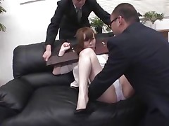 Now here's a concept that works! A excited oriental milf secured with a thraldom device seems not accede what's going to happen with her big booty. But after the stud cuts her panties with scissors and inserts his finger in her tight shaved asshole that babe suddenly starts moaning and enjoys the treatment.