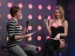 2 sexy angels speak live about sex in a jewish manner. They are broke and trying to buy something, but don`t have enough money. These jokes about sex are indeed turning 'em on. Besides looking for Mr. Right, the blond wishes to go down on her girlfriend for some money. This honey takes her brassiere off, it`s so hot.