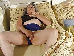 Although our granny is so old that she barely moves the fucking slut still needs to fuck. Cornel rubs her saggy fur pie and then receives some help from her girl. She kisses these old wrinkled bumpers and helps her undress so they can have some lesbo action. The whores desire to receive dirty so why not watch 'em and enjoy