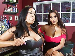 Kiara Mia and Nina Mercedez are 2 sexy MILFs those love to play lesbo often. In a bar, those 2 were alone and their homosexuality jumps out of their cages for a dominating hardcore lesbo love. One of them got rough with one greater amount one and made her to strip, suck boobs & nipples, get butt slapped and pussy licked.