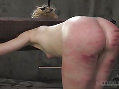 That perfect ass merited a good beating only that the executor crossed the line and bruised it. Look at it how screwed up it is, would you like to fuck an ass like that? Of course you will, it's hotter! Sara is a blonde slut that enjoys being spanked until her ass turns red and purple, wanna see what else that babe likes?