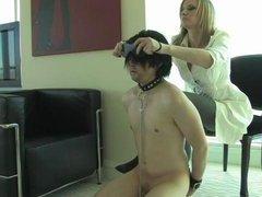 Headmistress M Ding-dong engulfing slave