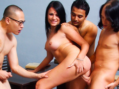 Indian Wife Pleases Her Husband & Acquires Fucked By His Allies