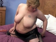 She is a heavy golden-haired honey who's pussy needs some pampering. See...