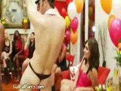 Bare Male Stripper Shakes Dick