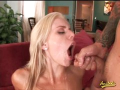 Hardcore anal foursome ends in facials